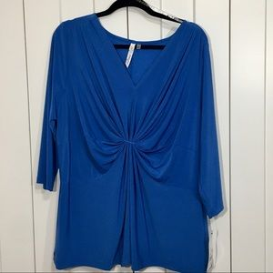 NWT  NY COLLECTION SZ 2X Olympian blue top.
